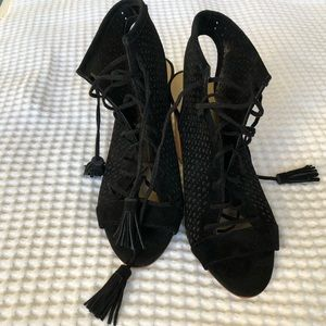 Marc Fisher Shoes - 🍃Marc Fisher🍃Black block heal lace up sandal